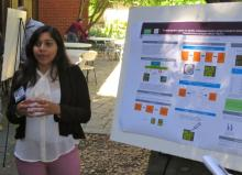 Tania Funes presenting her research poster
